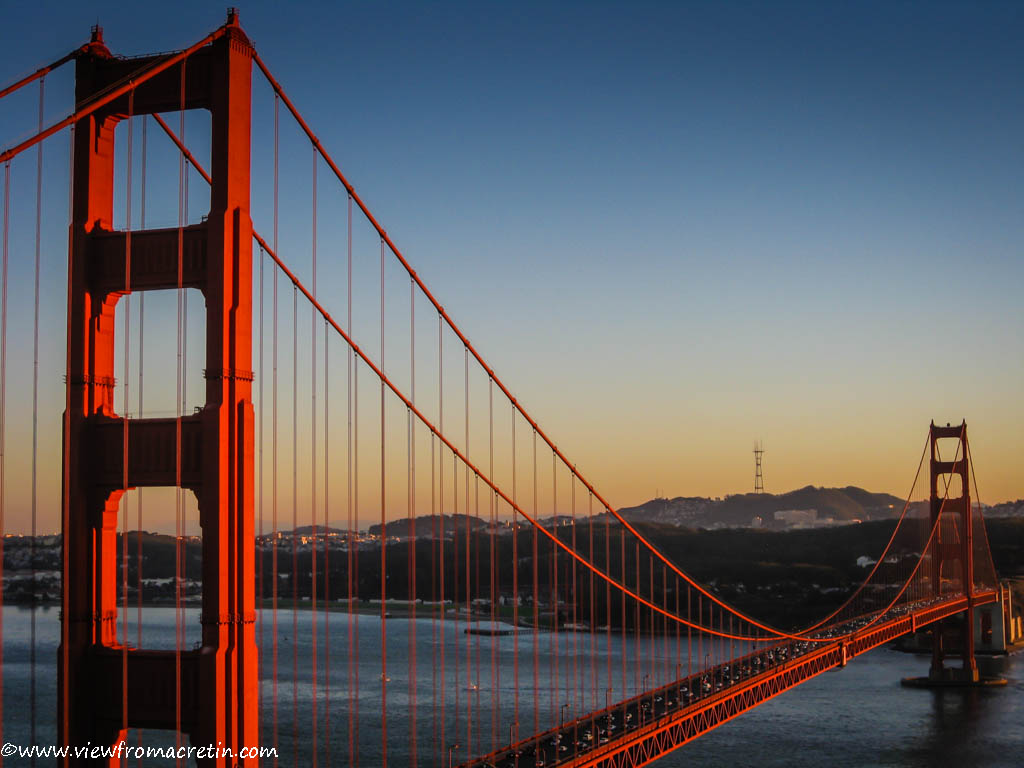 The Golden Gate Bridge at sunset  View a larger version of this image Golden Gate Bridge At Day