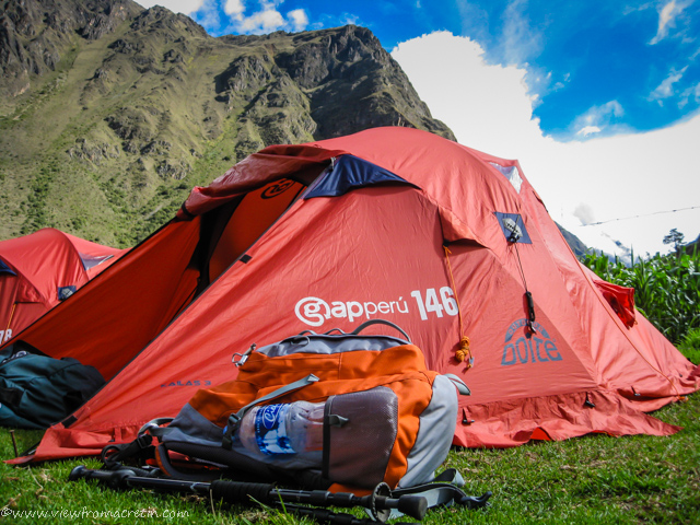 View of the Day – Camping on the Inca Trail, Peru, South America