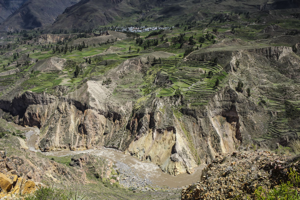 A small colonial town in Colca Canyon, Peru.